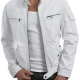 White Motorcycle Leather Jacket