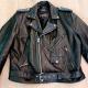 Wilsons Belt Heavy Biker Punk Leather Jacket