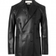Alexander Mcqueen Slim-fit Double-breasted Leather Blazer