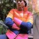 Brie Larson Celebrity Inspired Puffer Rainbow Jacket