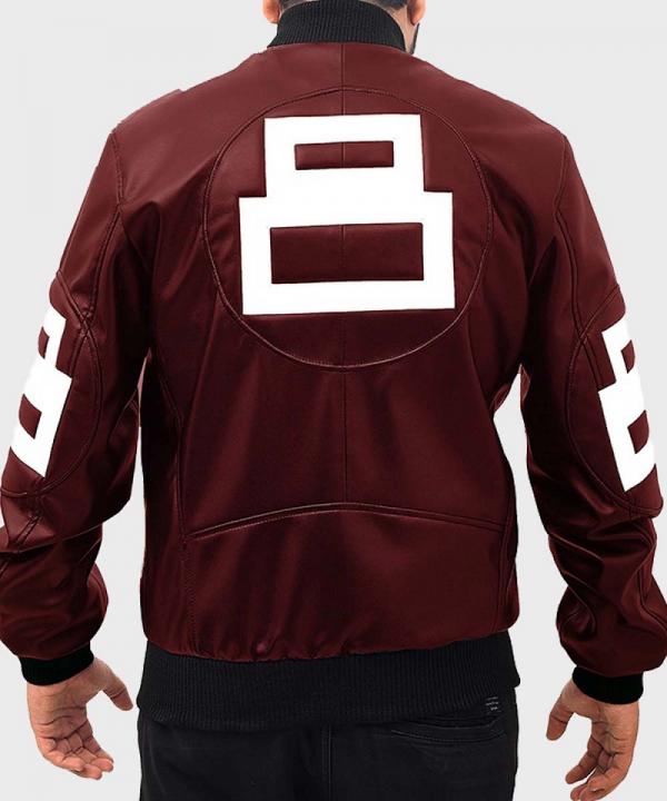David Puddy TV Series Seinfeld 8 Ball Bomber Leather Jacket