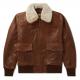Golden Bear Westwood Shearling-trimmed Leather Jacket