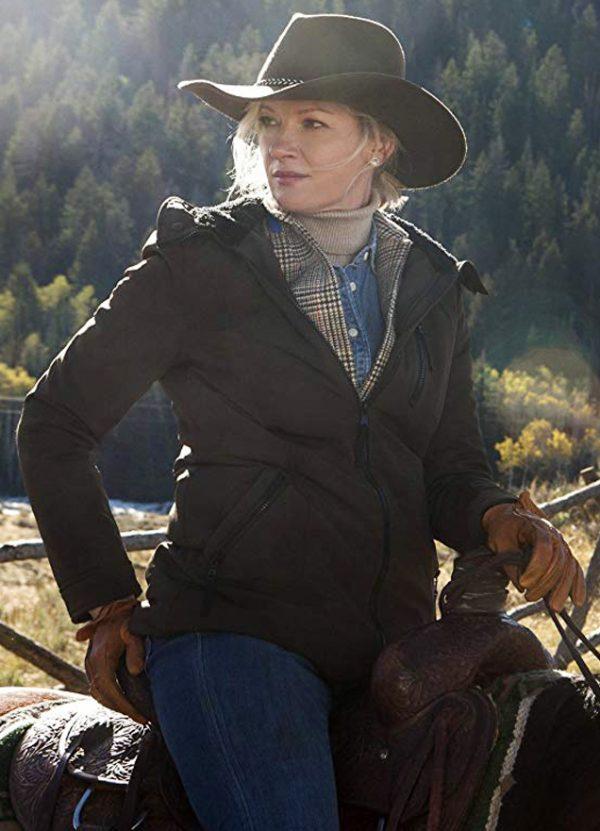 Gretchen Mol Yellowstone Series Evelyn Dutton Jacket