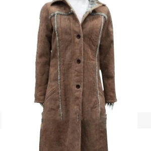Kelly Reillys Yellowstone Beth Dutton Suede Leather Coat