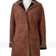 Kelsey Chow Yellowstone Monica Duttons Suede Leather Coat