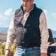 Kevin Costner Yellowstone John Dutton Quilted Parachute Vest