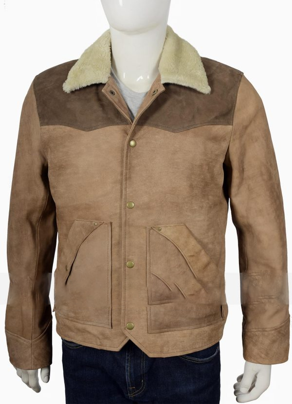 Kevin Costner Yellowstone John Dutton Raw Leather Jacket