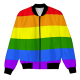 Rainbow LGBTQ Flag Skull Logo Fleece Jacket