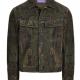 Ralph Lauren Purple Label Clifton Paisley Suede Trucker Jacket