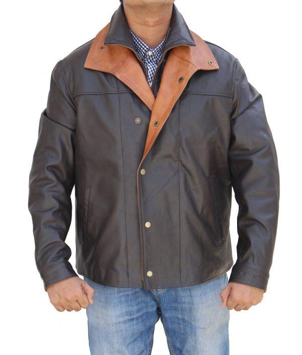 Thomas Rainwaters Yellowstones Gil Birmingham Leather Jacket