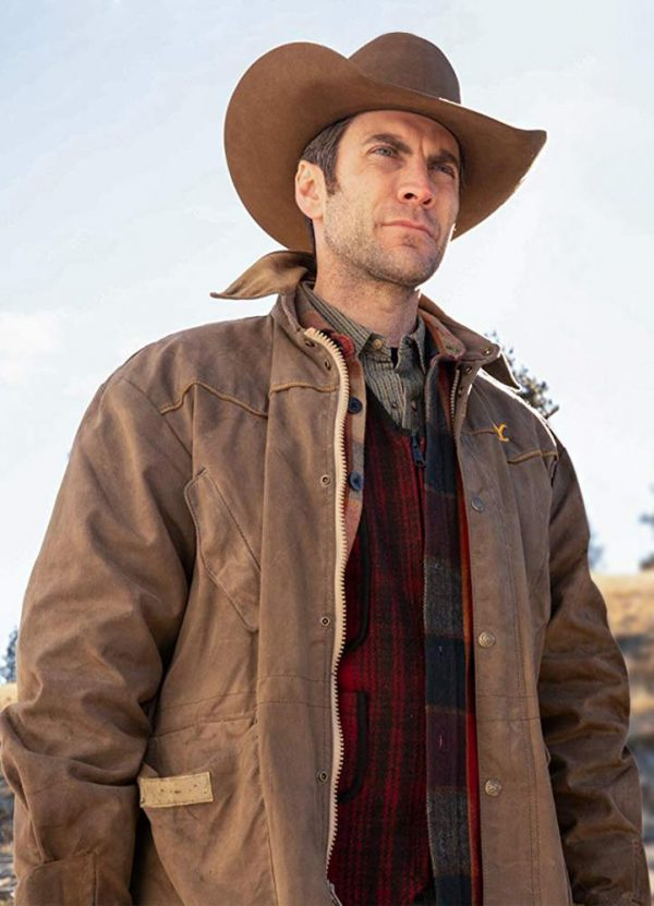 Wes Bentley Yellowstone Jamie Dutton Leather Jacket